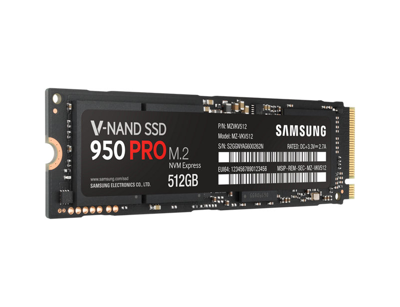 Samsung SSD PRO 950 512GB