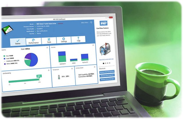 اس اس دی وسترن دیجیتال Western Digital SSD green 120GB