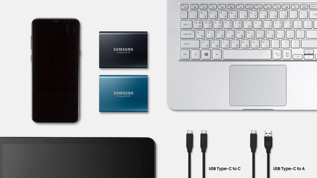 SAMSUNG EXTERNAL SSD T5 1TB اس اس دی اکسترنال سامسونگ