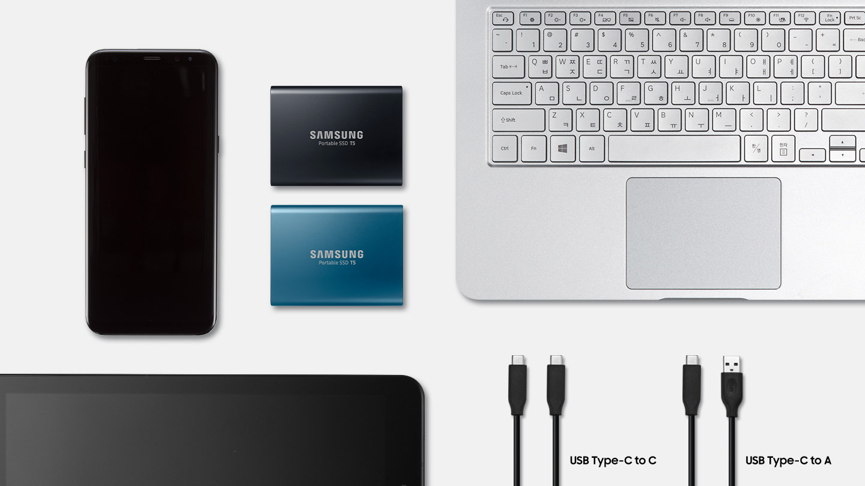 اس اس دی اکسترنال سامسونگ samsung ssd external T5 500GB