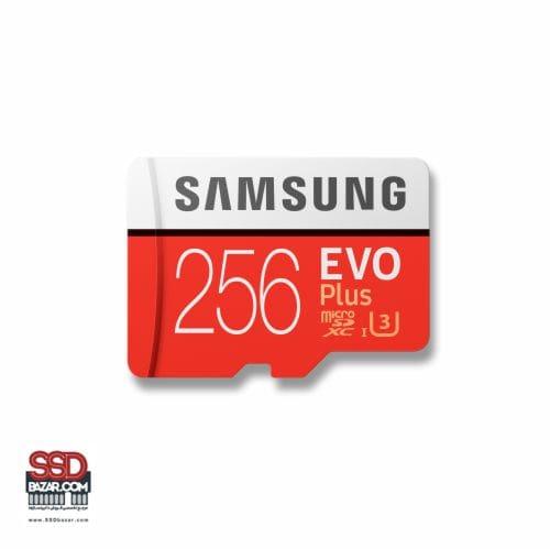 میکرو اس دی سامسونگ (2020) ssdbazar MicroSDXC Evo plus 256GB Class10 U3 4K 3-min