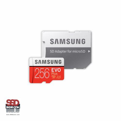 میکرو اس دی سامسونگ (2020) ssdbazar MicroSDXC Evo plus 256GB Class10 U3 4K 5-min