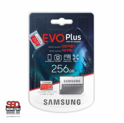 میکرو اس دی سامسونگ (2020) ssdbazar MicroSDXC Evo plus 256GB Class10 U3 4K-min