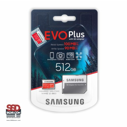 میکرو اس دی سامسونگ (2020) ssdbazar MicroSDXC Evo plus 512GB Class10 U3 4K-min