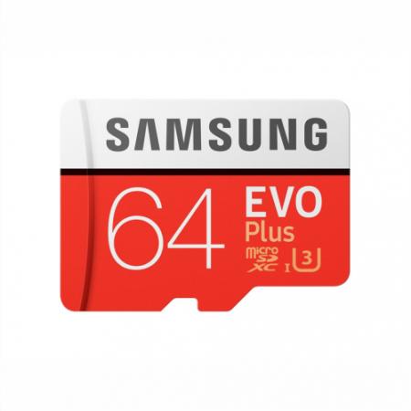 کارت حافظه میکرو اس دی سامسونگ samsung MicroSDXC evo plus 64GB Class10 U3 4K