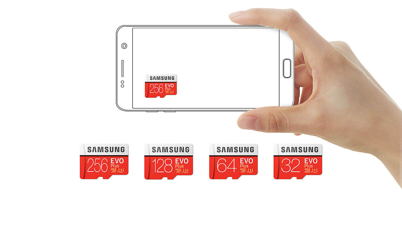 کارت حافظه میکرو اس دی سامسونگ samsung MicroSDXC evo plus 256GB Class10 U3 4K