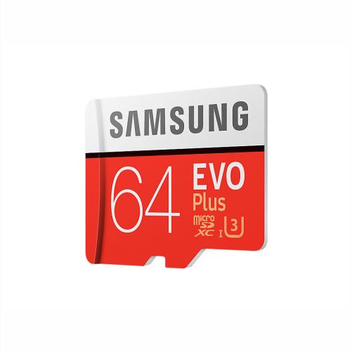 کارت حافظه میکرو اس دی سامسونگ samsung MicroSDXC evo plus 64GB Class10 U3 4K کارت حافظه میکرو اس دی سامسونگ samsung MicroSDXC evo plus 64GB Class10 U3 4K