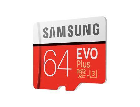 samsung MicroSXCD evo plus 64GB کارت حافظه میکرو اس دی سامسونگ samsung MicroSDXC evo plus 64GB Class10 U3 4K