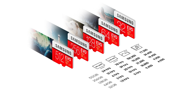 کارت حافظه میکرو اس دی سامسونگ samsung MicroSDXC evo plus 64GB Class10 U3 4Kکارت حافظه میکرو اس دی سامسونگ samsung MicroSDXC evo plus 64GB Class10 U3 4K