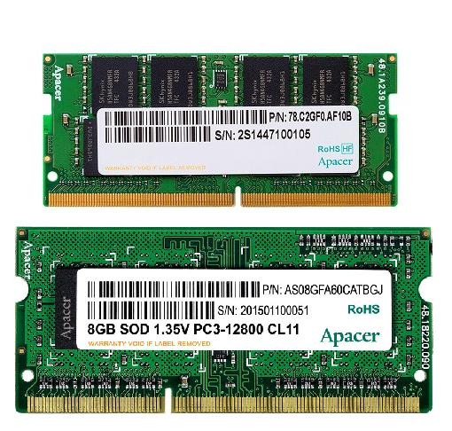 sdds 1 - رم لپ تاپ اپیسر Apacer Ram SOD DDR4 8GB 2133Mhz