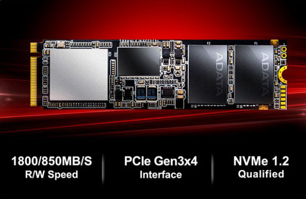 2 3 - اس اس دی ای دیتا Adata SSD M2 PCIe XPG SX7000 512GB