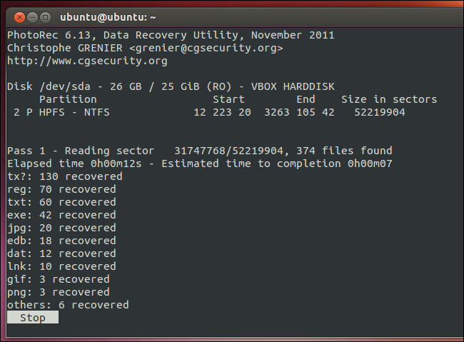بازگردانی داده های حذف شده (ریکاوری)