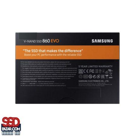 05 MZ 76E250BW 007 Back PKG Black 100418 min 450x450 - Samsung SATA SSD EVO 860 250GB اس اس دی سامسونگ