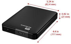 حمل و نقل بسیار آسان - هارد دیسک اکسترنال وسترن دیجیتال Western Digital external HDD Elements 2TB