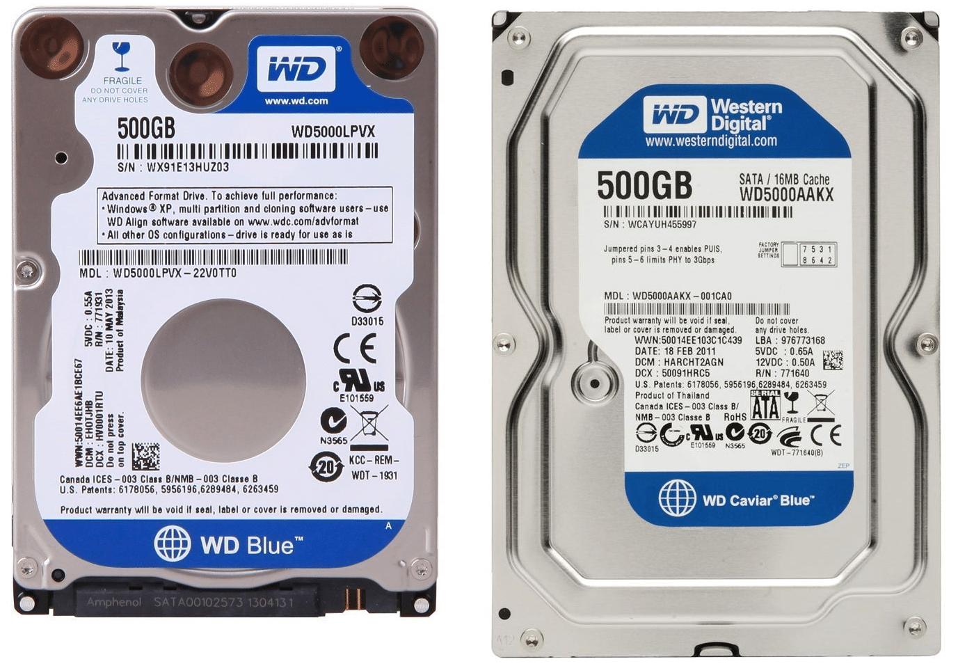 Western Digital HDD blue 64MB cache 2TB
