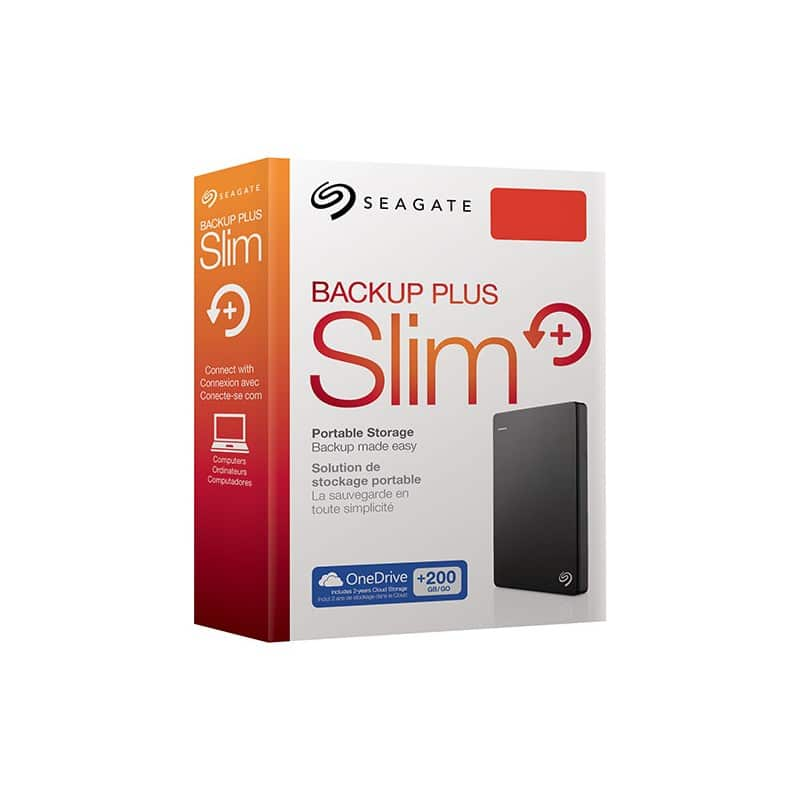 Seagate external HDD Backup slim plus 2TB