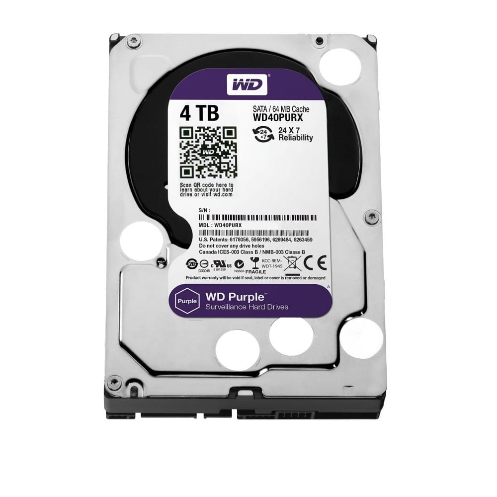 Western Digital HDD purple 64MB cache 4TB