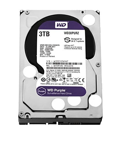 Western Digital HDD purple 64MB cache 3TB