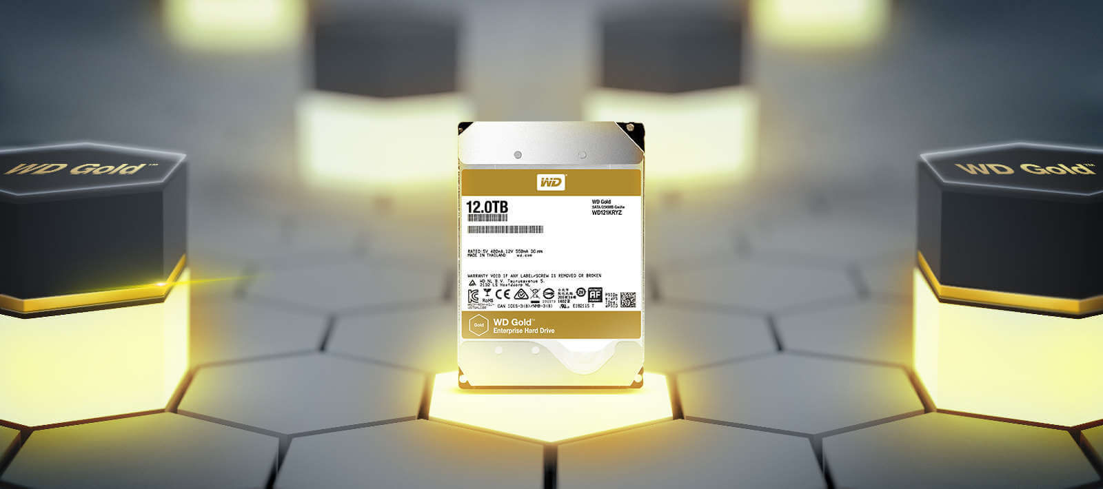 hdd wd gold 4tb ssdbazar 2 - هارد دیسک وسترن دیجیتال Western Digital HDD Gold 4TB