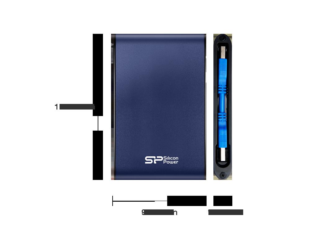 Silicon Power External HDD Armor A80 SSDBAZAR - هارد دیسک اکسترنال سیلیکون پاور Silicon Power External HDD Armor A80 1TB