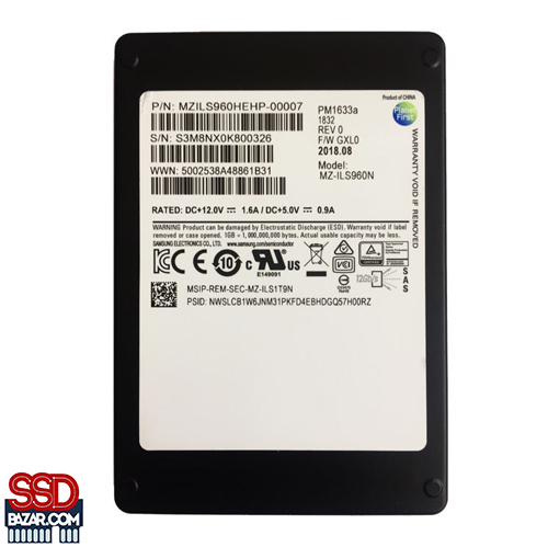 PM 1633A SSD - SAMSUNG SSD PM1633a 3.84TB MZILS3T8HMLH اس اس دی سامسونگ