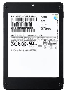 SAMSUNG SSD PM1643 1.9TB MZILT1T9HAJQ-00007 اس اس دی سامسونگ