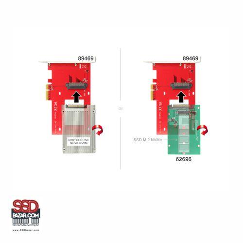 Delock U.2 to PCIe Adapter 89469 تبدیل u.2 به pcie ssdbazar 5-min